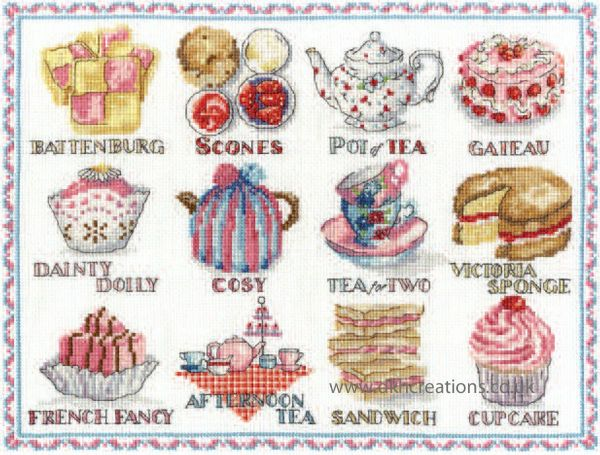 Afternoon Tea Sampler Cross Stitch Kit